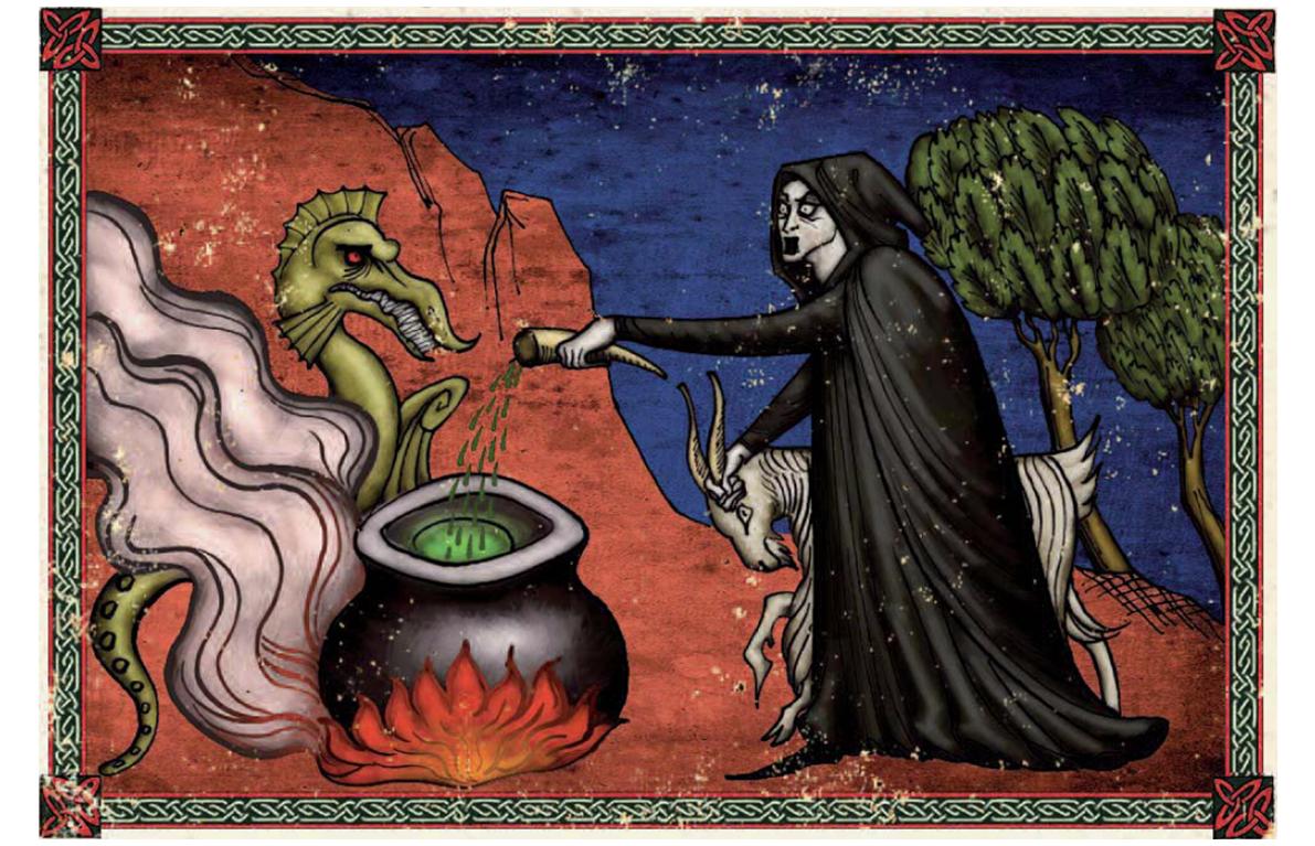 magia hechizos conjuros invocaciones aquelarre juego rol