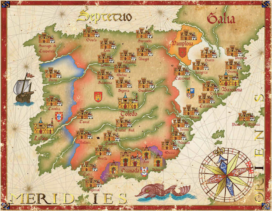 imagen mapa peninsula iberica medieval