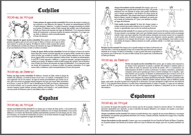 Flos duellatorum ayuda de juego con acciones de combate para aquelarre el juego de rol