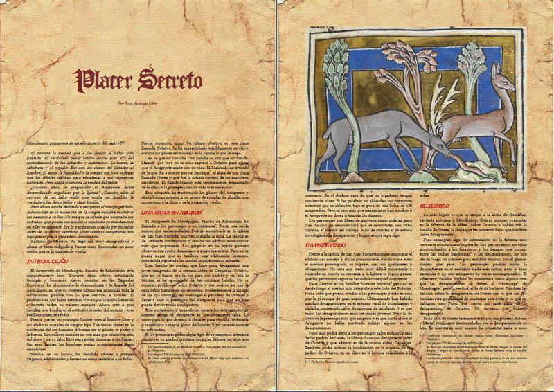 Placer Secreto mòdul d'Aquelarre per José Antonio Neto