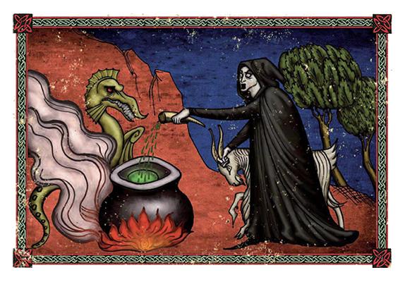 magia y hechizos en Aquelarre
