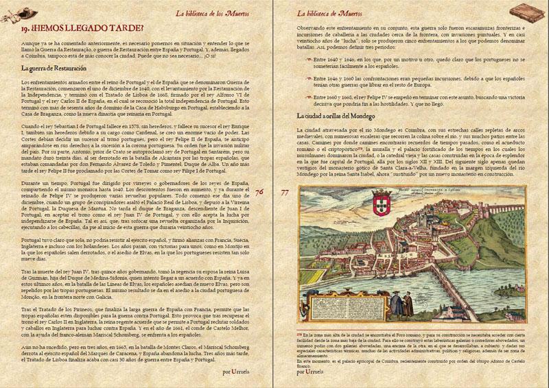 la biblioteca de los muertos para villa y corte por Iago Urruela