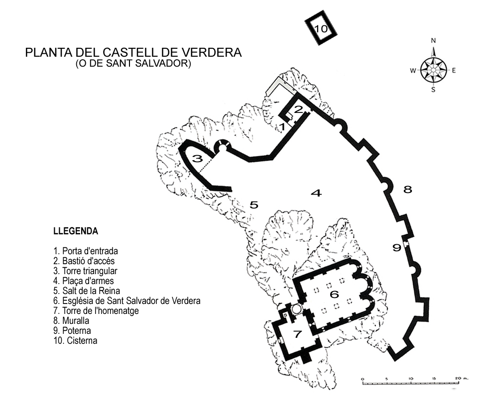 mapa del castell de Verdera