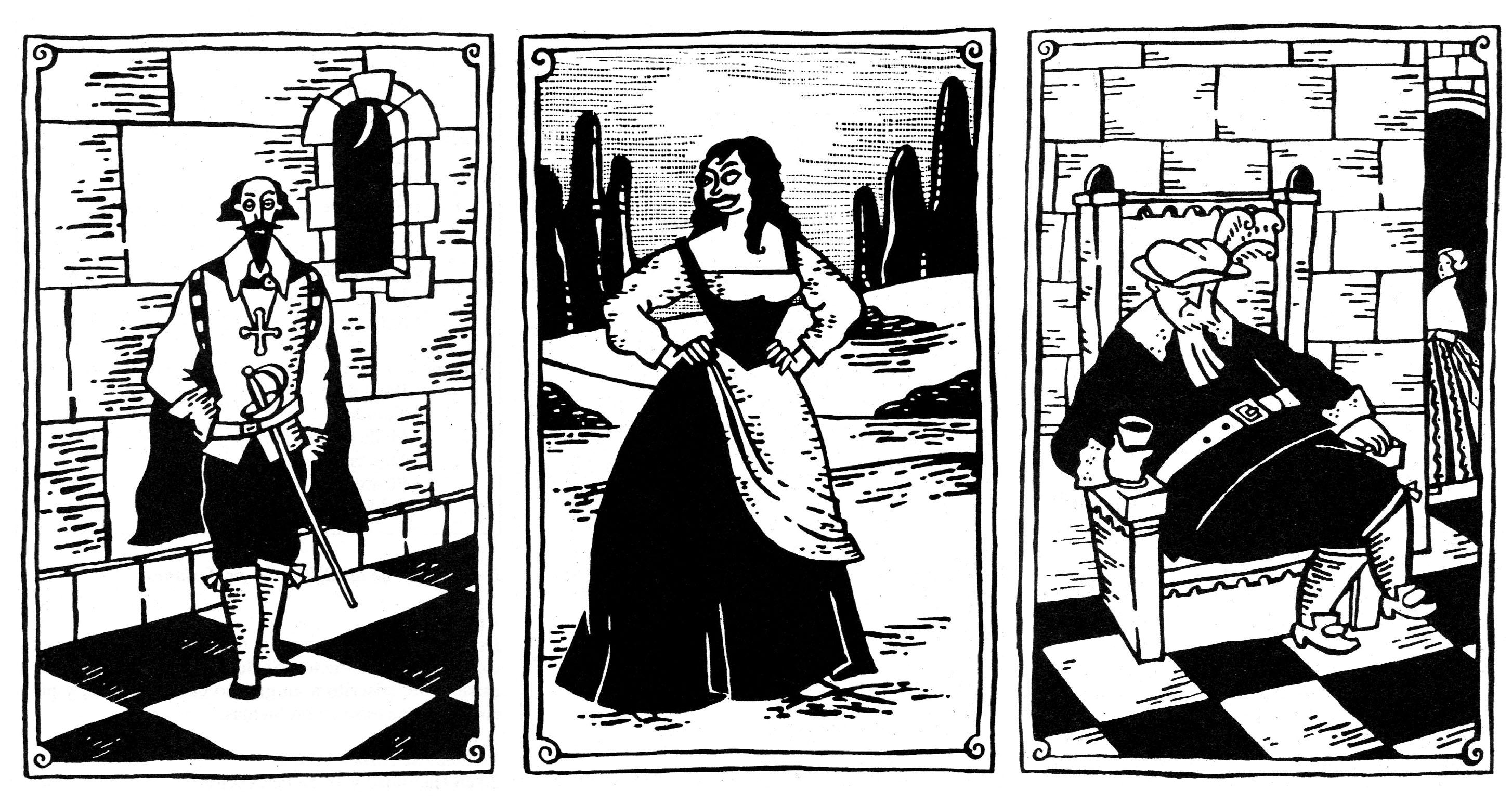 Ilustraciones de Montse Fransoy publicadas en Aquelarre por Joc Internacional
